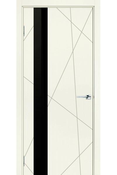 Межкомнатная дверь Геометрия ПО белая эмаль