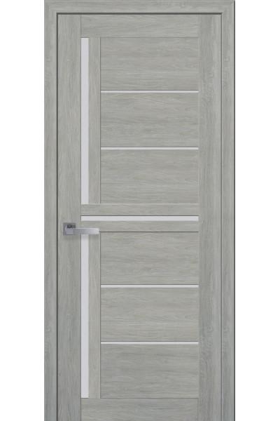 Межкомнатная дверь Диана дуб дымчатый ПВХ Ультра со стеклом сатин